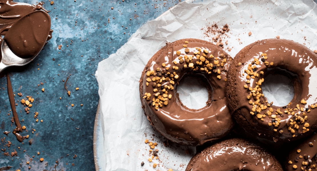 Milk Chocolate Doughnuts with Honey Tradition Raw Bee Pollen