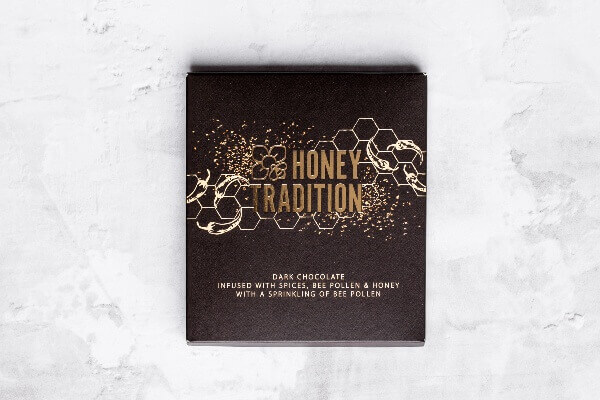 Dark Chocolate Infused with Raw Honey, Bee Pollen and Spices