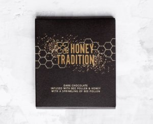 Dark Chocolate Infused with Raw Honey and Bee Pollen