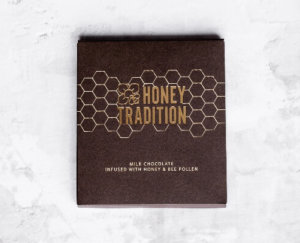 Milk Chocolate Infused with Raw Honey and Bee Pollen